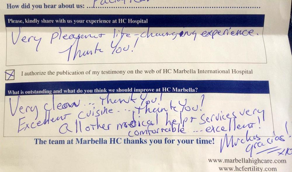 Testimonio paciente HC Marbella