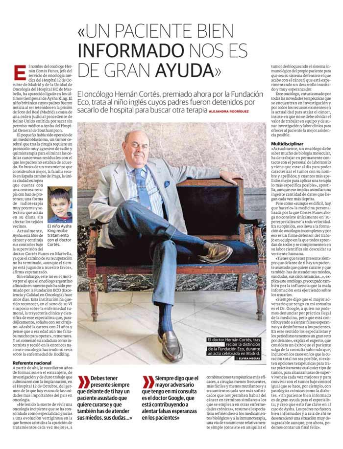 Entrevista Dr. Cortés Funes Revista Salud