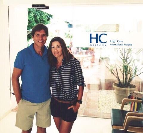Visita de el Cordobés a HC Marbella