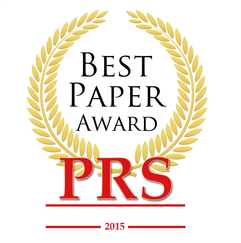 Best Paper Award 2015