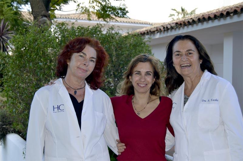 ginecólogas y paciente