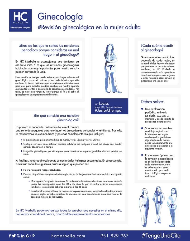 Revisión ginecológica en la mujer adulta
