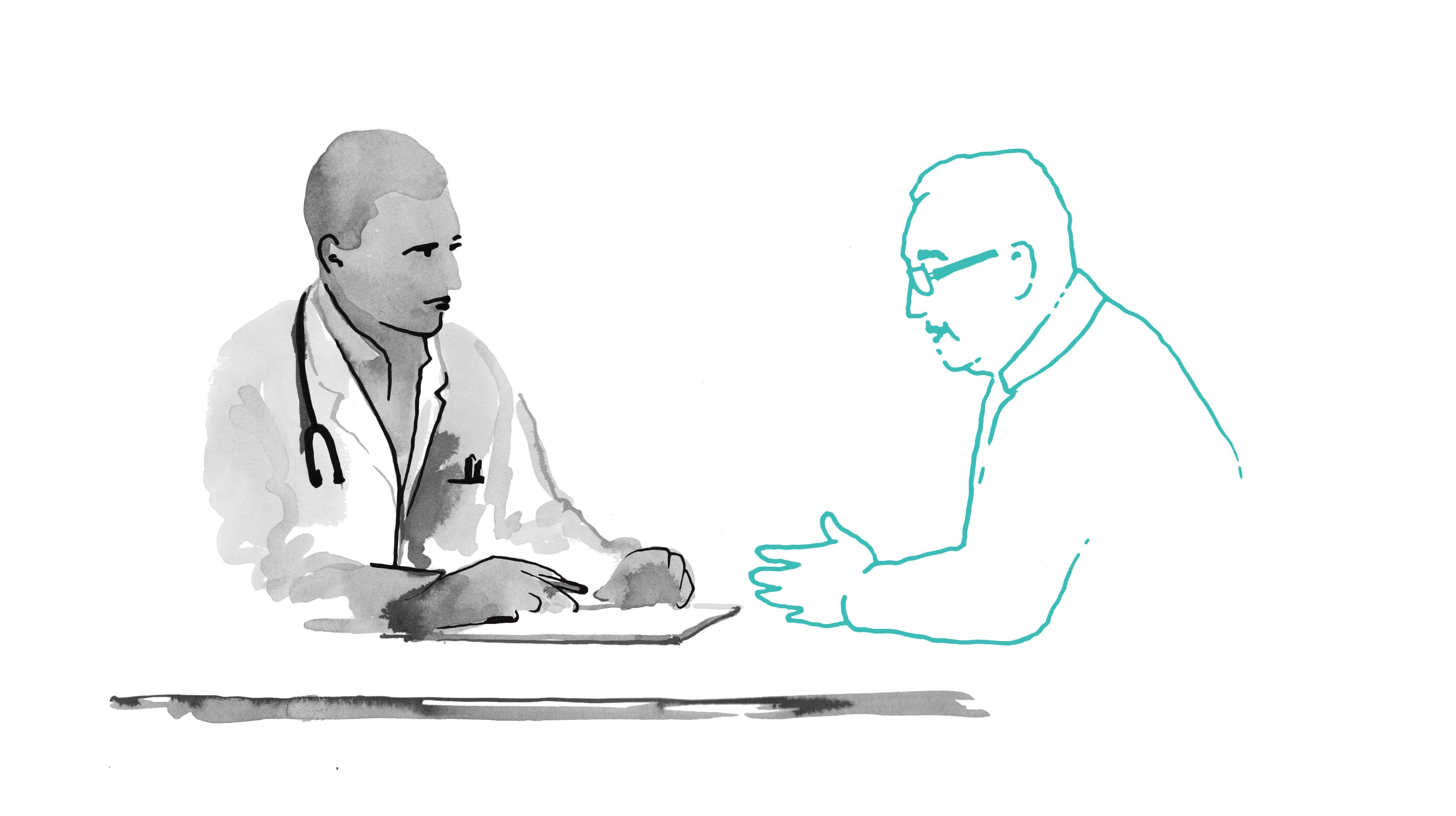 El médico y su paciente en Marbella