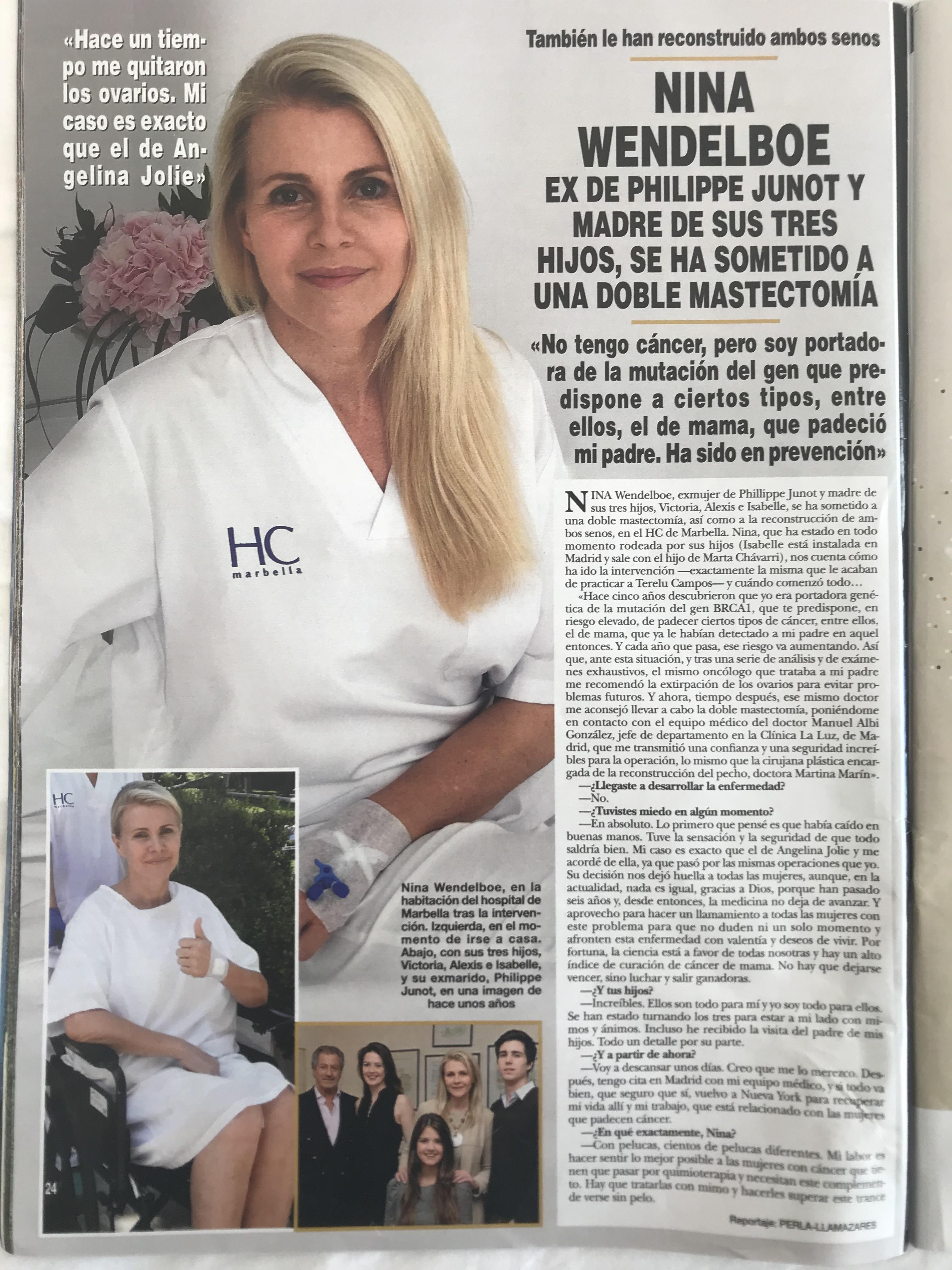Reportaje en Revista HOLA