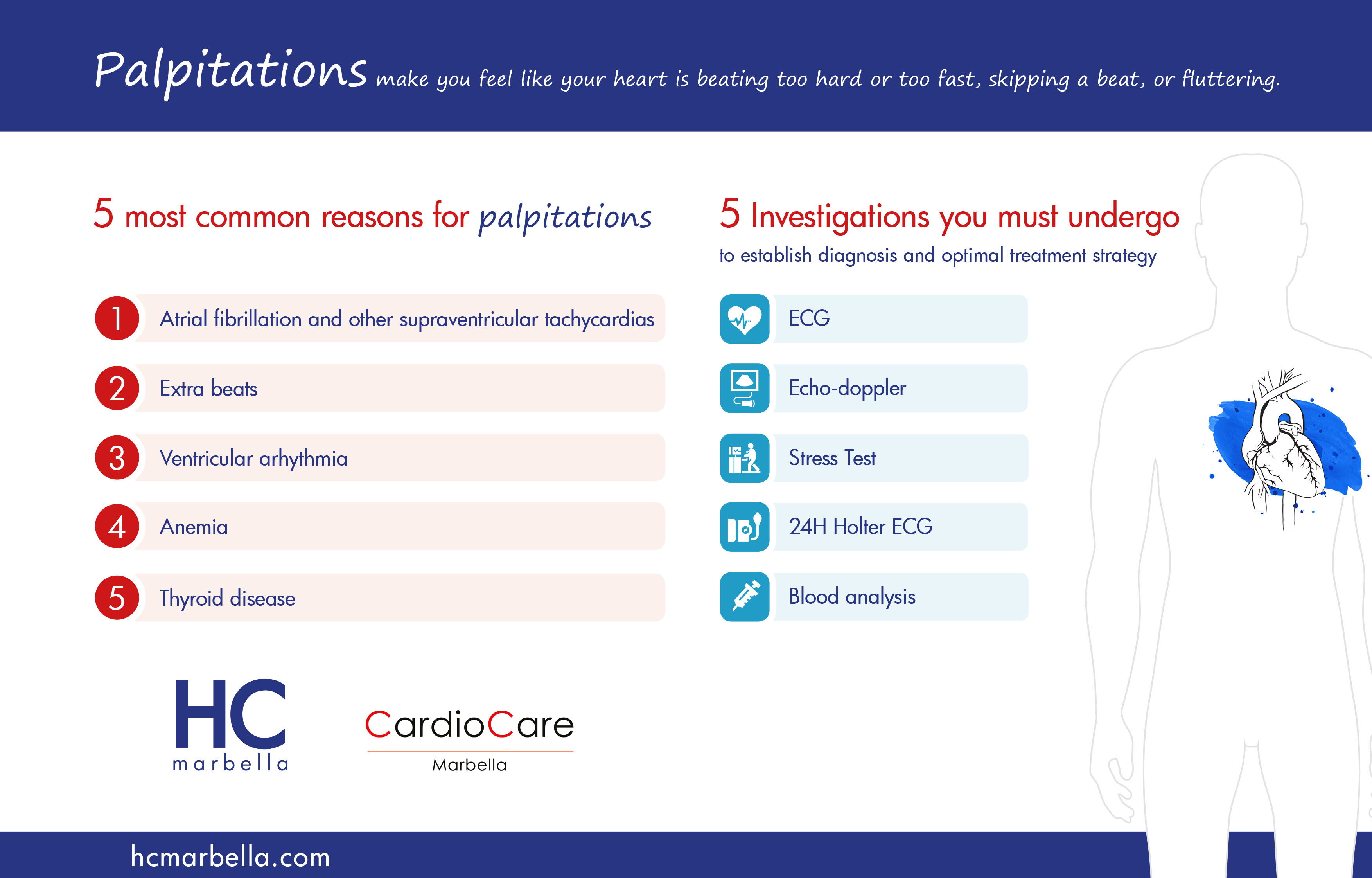 Common reasons for palpitations