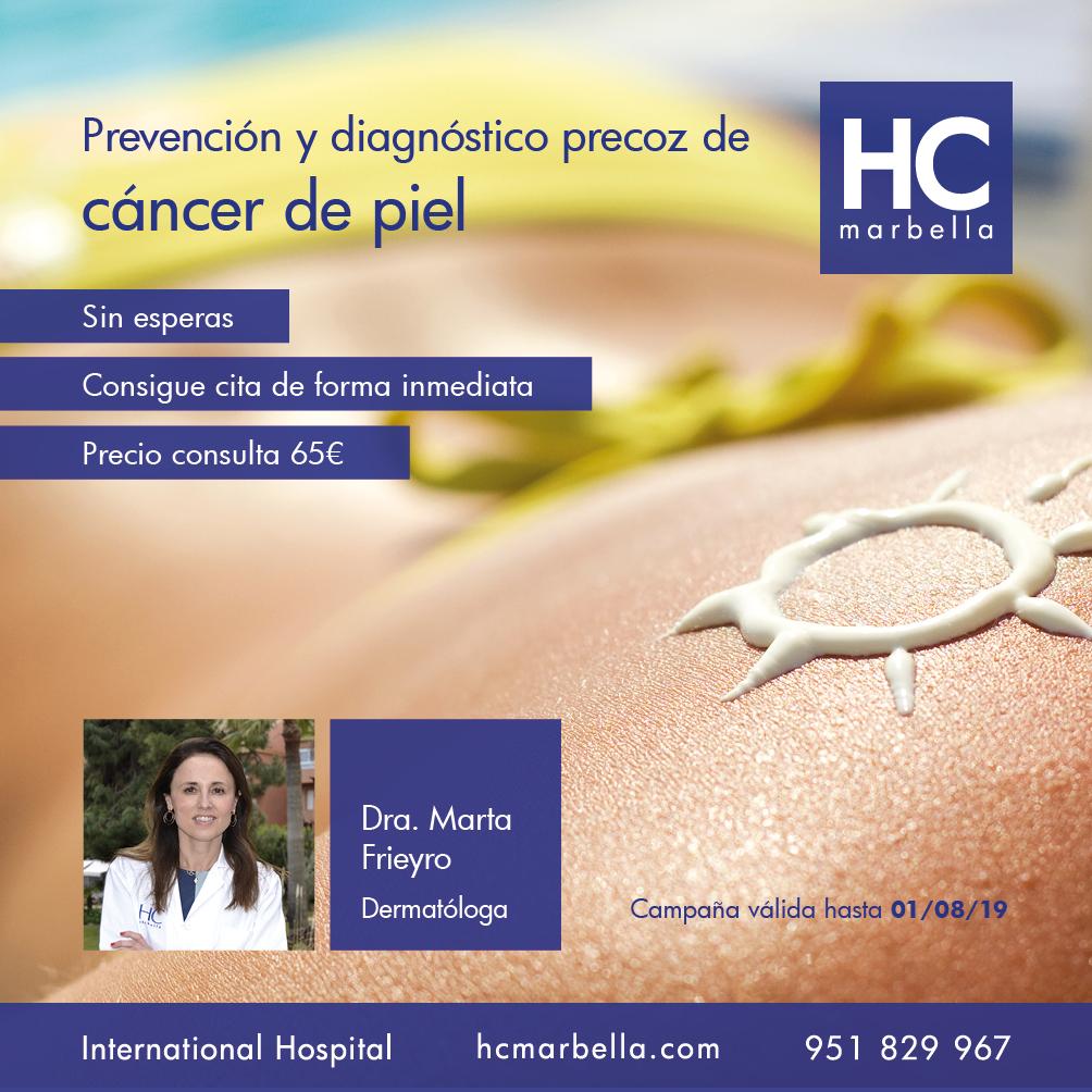 Campaña de Prevención y diagnóstico precoz de cáncer de piel