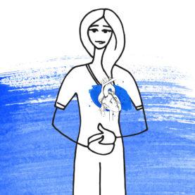 corazón de la mujer