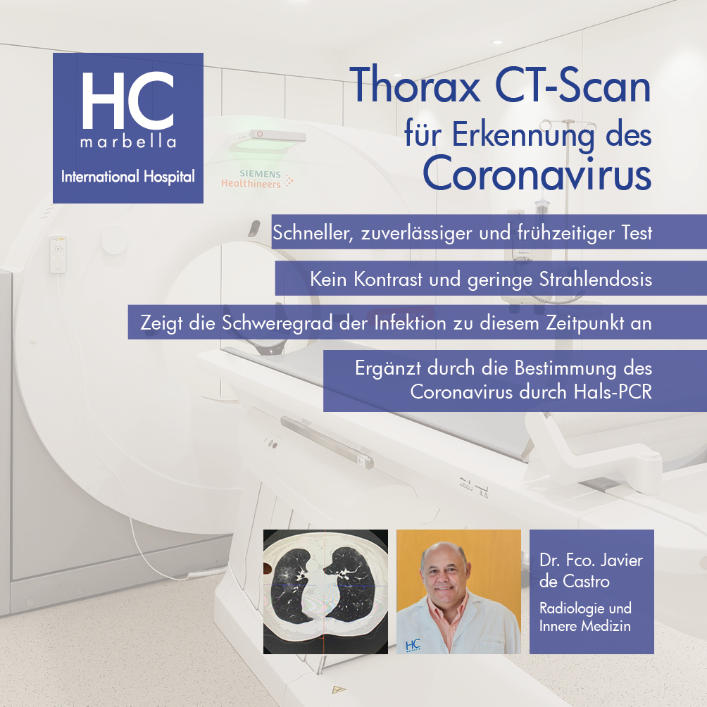 Thorax-CT für Coronavirus