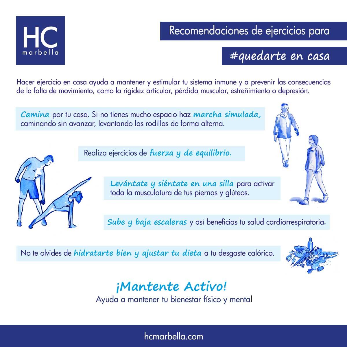 recomendación ejercicios durante coronavirus