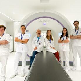El primer tratamiento de radioterapia...